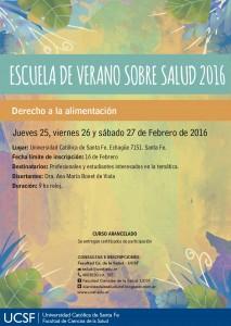 AFICHE Y MAILINGS - ESCUELA DE VERANO-derecho a la alimentación-ucsf-ciencias de la salud-licenciatura en nutrición