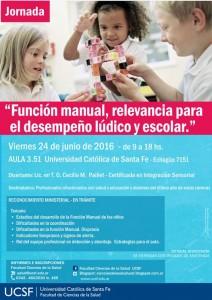 jornada sobre función manual -ucsf-terapia ocupacional