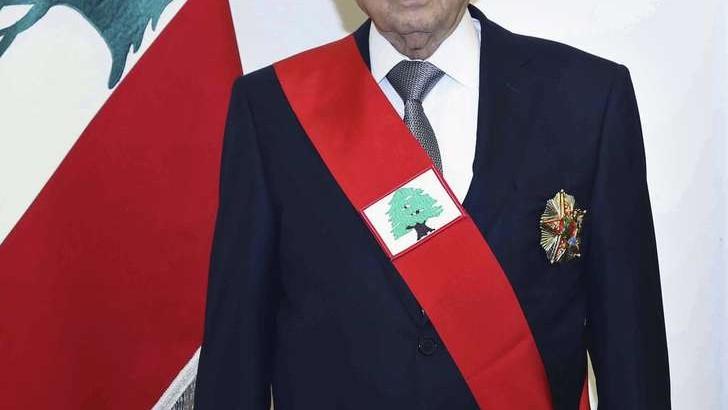 Libano - Aoun Presidente
