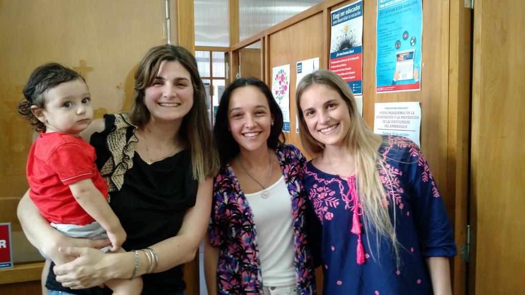 Vanesa Colombo, Victoria Sanchez y Marianela Ceschi