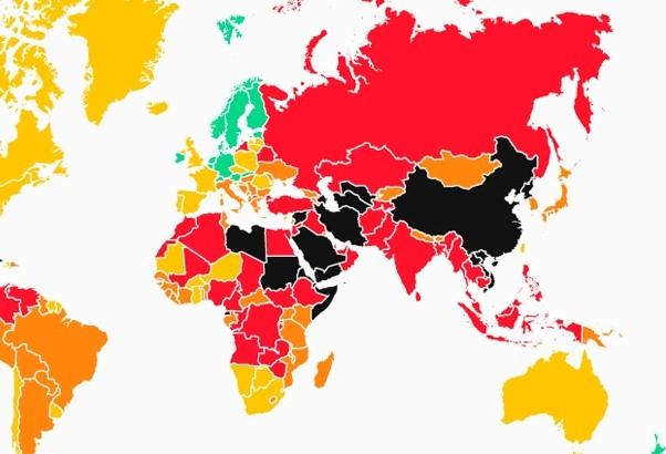 mapa - libertad de prensa