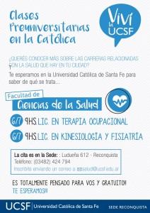 CLASES reconquista- terapia ocupacional- acompañante terapeutico- kinesiologia