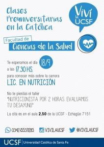 CLASES PREUNIV NUTRI - STA FE-2DO CUAT 2017