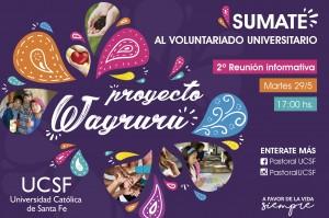 Afiche wayruru - 2 reunion 2018