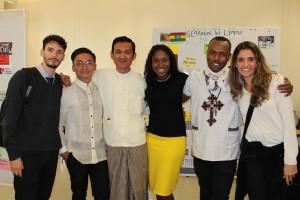 Sergio junto a sus compañeros de Filipinas, Myanmar, EEUU, Etiopía y Brasil