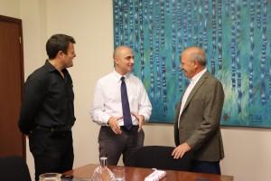 El Rector de la UCSF, Mario Biffi, Gonzalo Savogin,